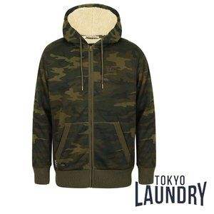 Tokyo Laundry Sherpa Lined Zip Through Hoodie